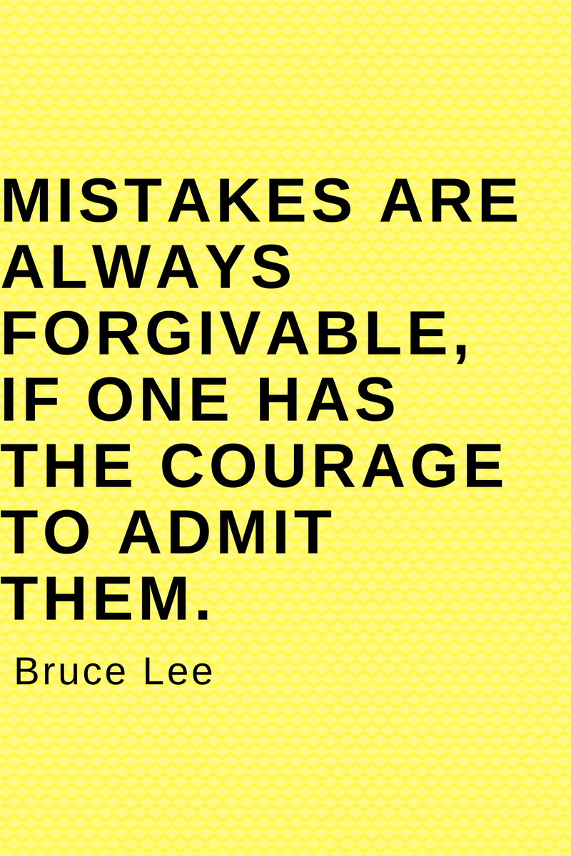 , Mistakes are always forgivable, if one has the courage to admit them. Bruce Lee, Blockchain Adviser for Inter-Governmental Organisation | Book Author | Investor | Board Member