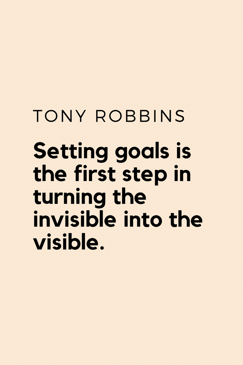 , Setting goals is the first step in turning the invisible into the visible. Tony Robbins, Blockchain Adviser for Inter-Governmental Organisation | Book Author | Investor | Board Member