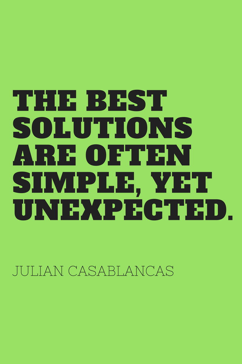 , The best solutions are often simple, yet unexpected. Julian Casablancas, Blockchain Adviser for Inter-Governmental Organisation | Book Author | Investor | Board Member