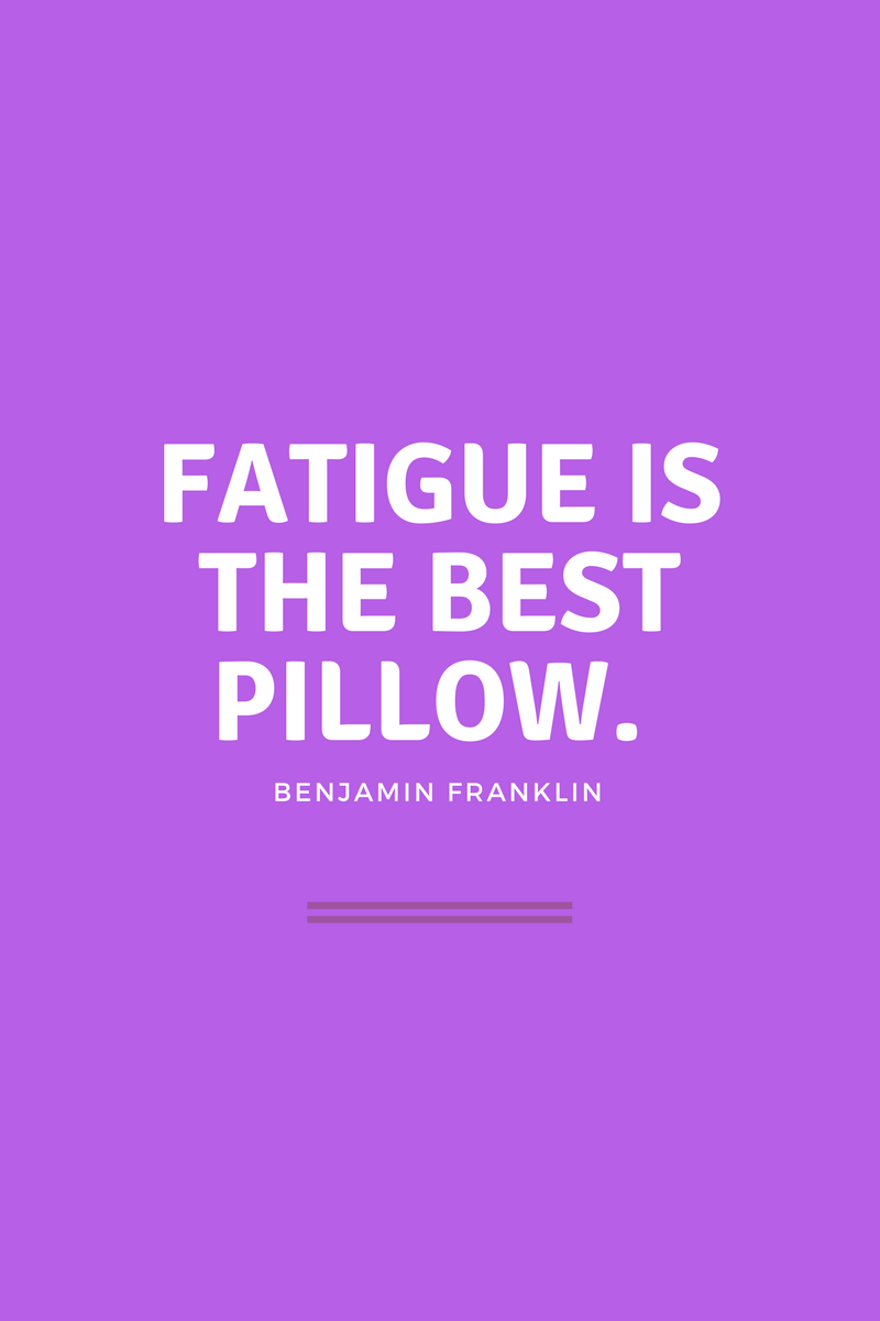 , Fatigue is the best pillow. Benjamin Franklin, Blockchain Adviser for Inter-Governmental Organisation   Book Author   Investor   Board Member