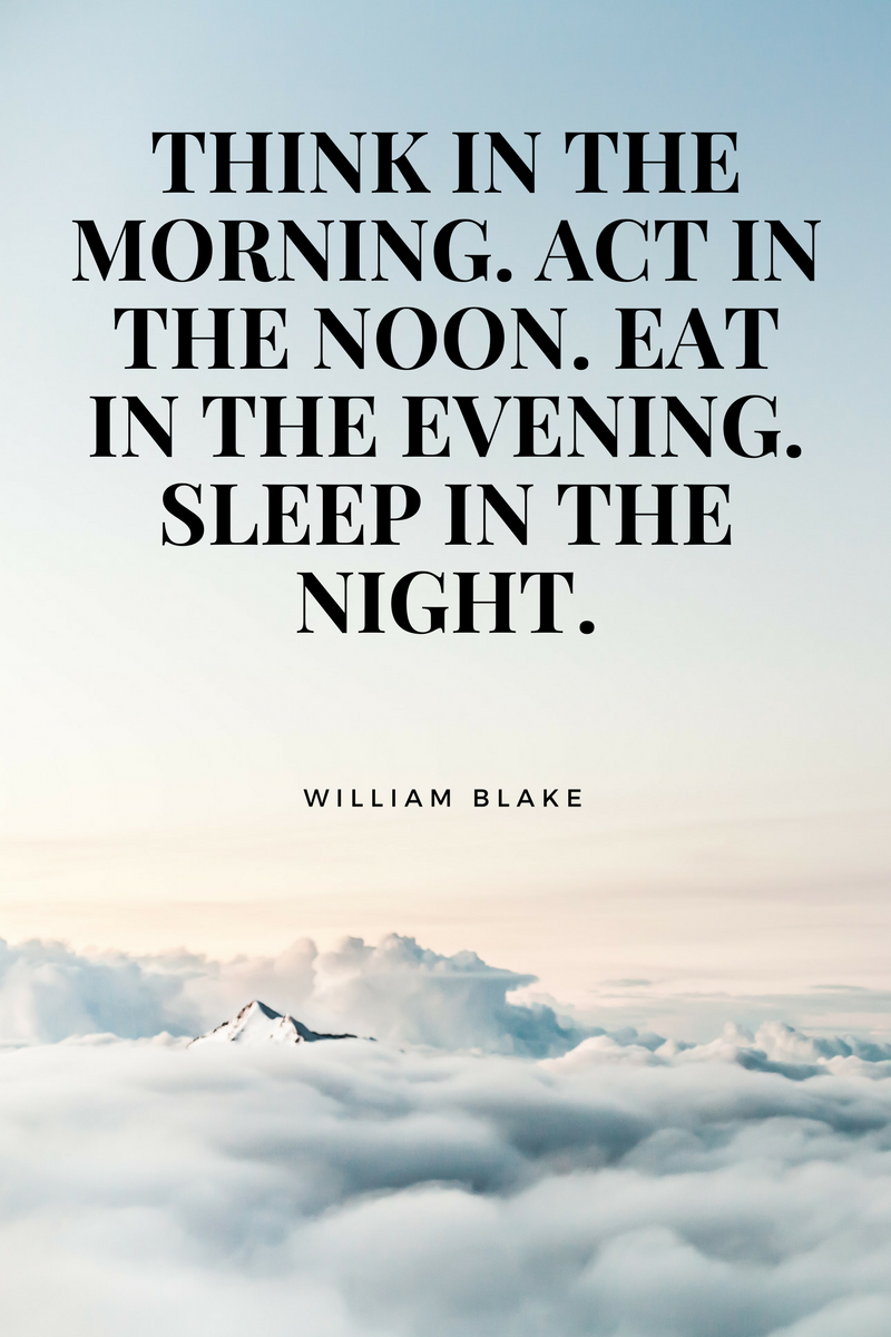 , Think in the morning. Act in the noon. Eat in the evening. Sleep in the night. William Blake, Blockchain Adviser for Inter-Governmental Organisation | Book Author | Investor | Board Member