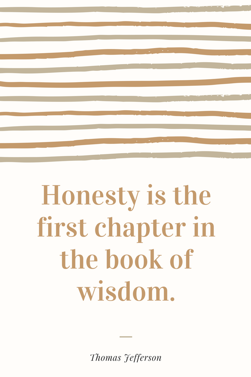 , Honesty is the first chapter in the book of wisdom. Thomas Jefferson, Blockchain Adviser for Inter-Governmental Organisation   Book Author   Investor   Board Member