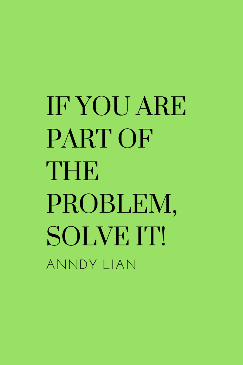 , If you are part of the problem, solve it! Anndy Lian, Blockchain Adviser for Inter-Governmental Organisation   Book Author   Investor   Board Member