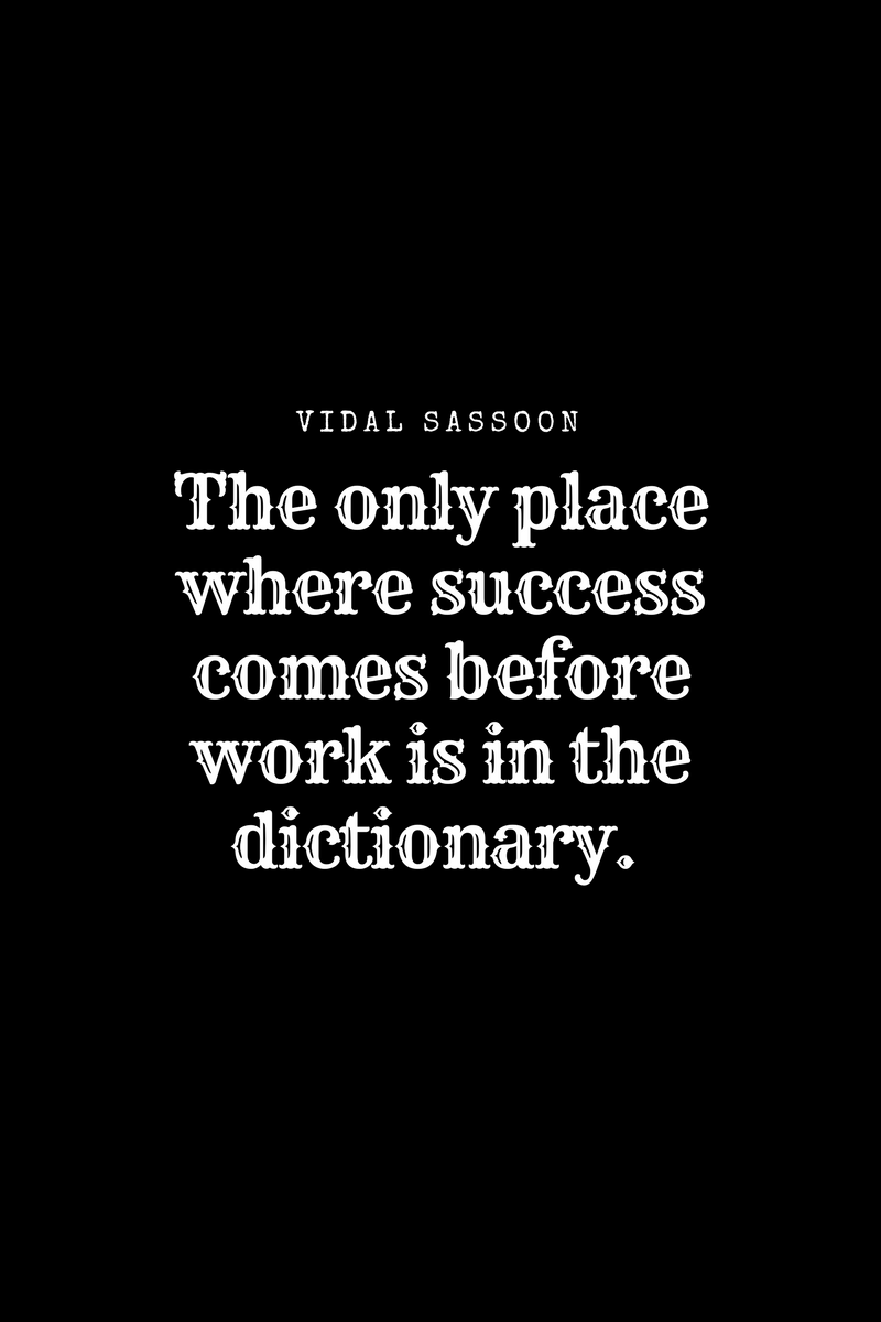 , The only place where success comes before work is in the dictionary. Vidal Sassoon, Blockchain Adviser for Inter-Governmental Organisation | Book Author | Investor | Board Member