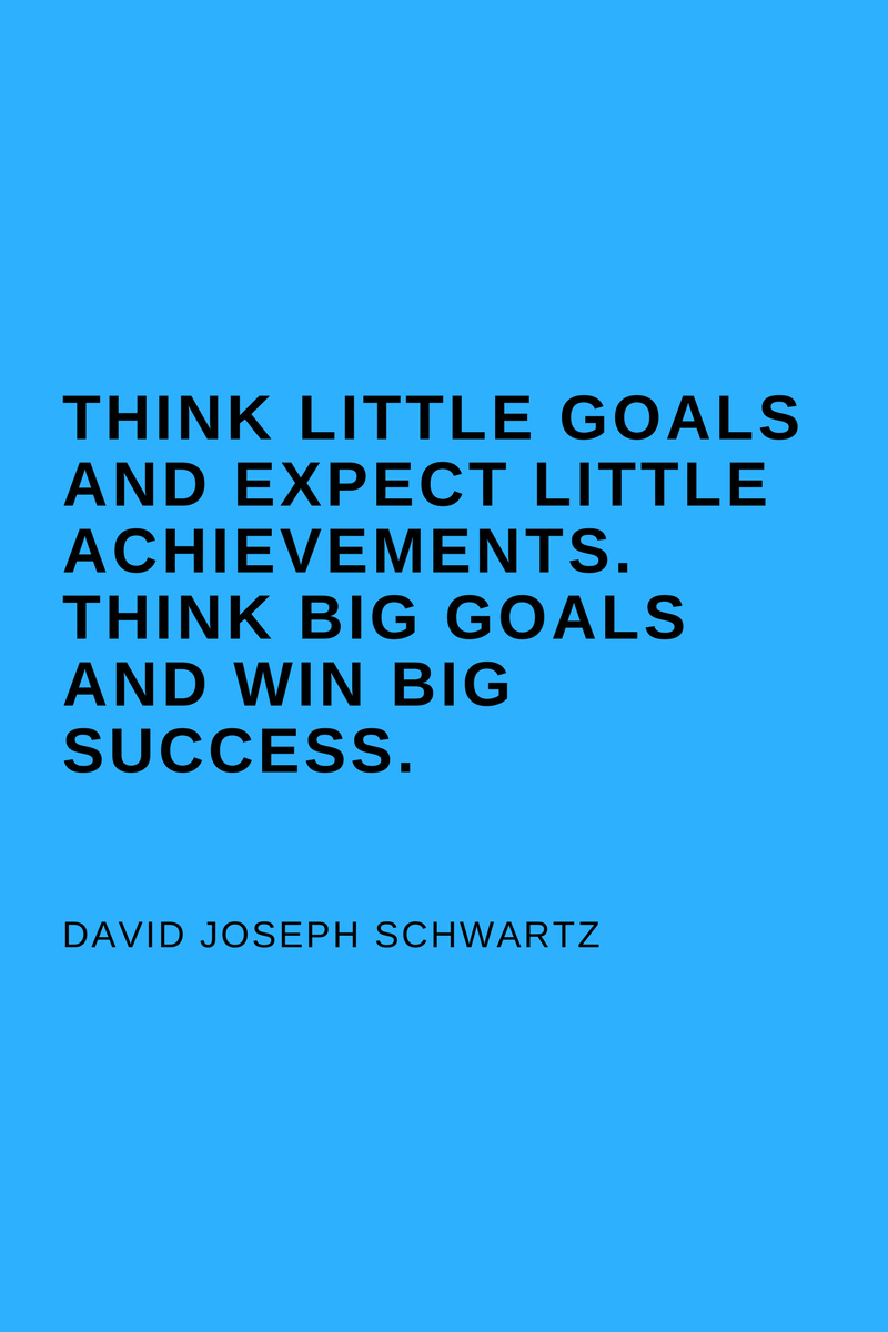 , Think little goals and expect little achievements. Think big goals and win big success. David Joseph Schwartz, Blockchain Adviser for Inter-Governmental Organisation | Book Author | Investor | Board Member