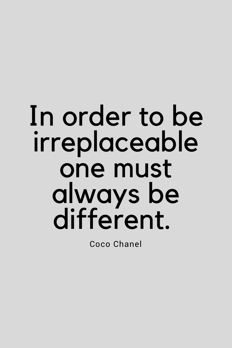 , In order to be irreplaceable one must always be different. Coco Chanel, Blockchain Adviser for Inter-Governmental Organisation   Book Author   Investor   Board Member