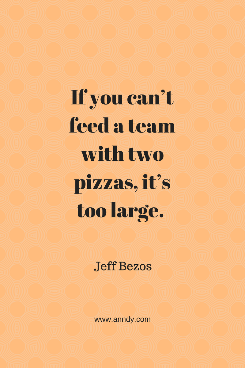 , If you can't feed a team with two pizzas, it's too large. Jeff Bezos, Blockchain Adviser for Inter-Governmental Organisation | Book Author | Investor | Board Member