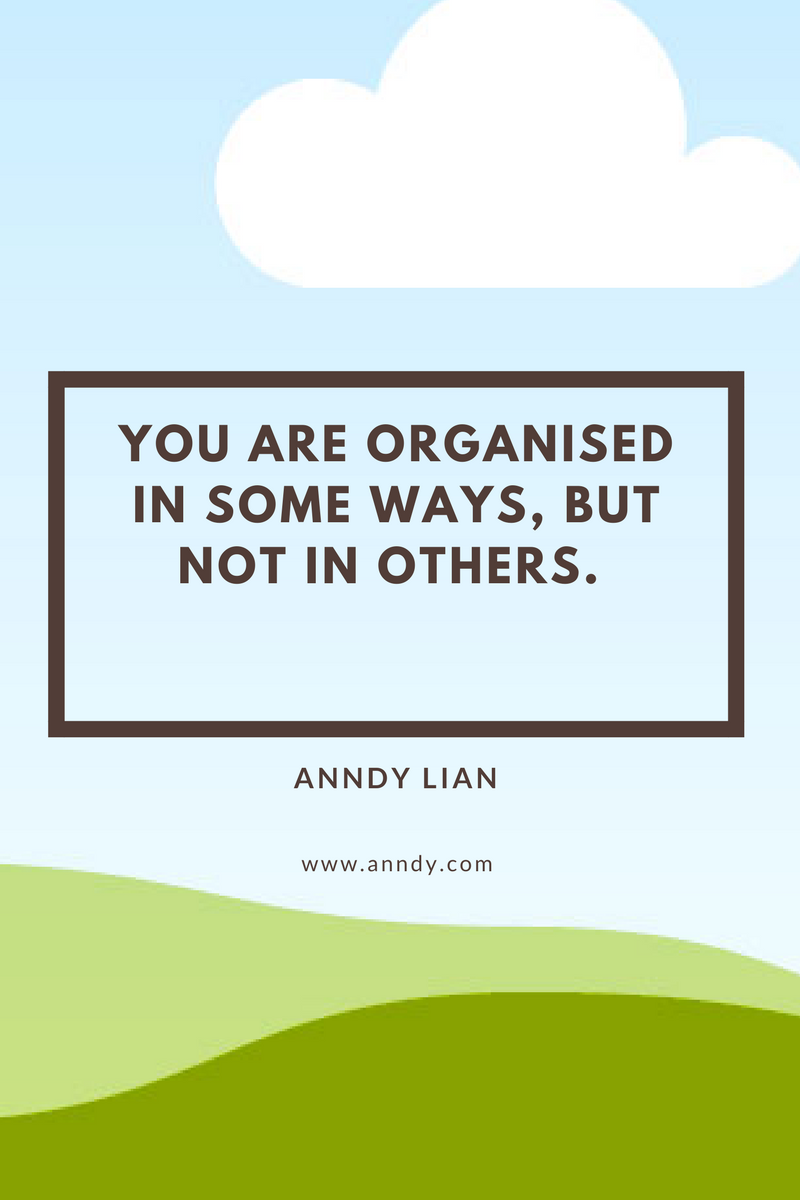 , You are organised in some ways, but not in others. Anndy Lian, Blockchain Adviser for Inter-Governmental Organisation | Book Author | Investor | Board Member