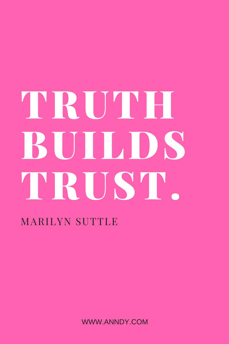 , Truth builds trust. Marilyn Suttle, Blockchain Adviser for Inter-Governmental Organisation   Book Author   Investor   Board Member