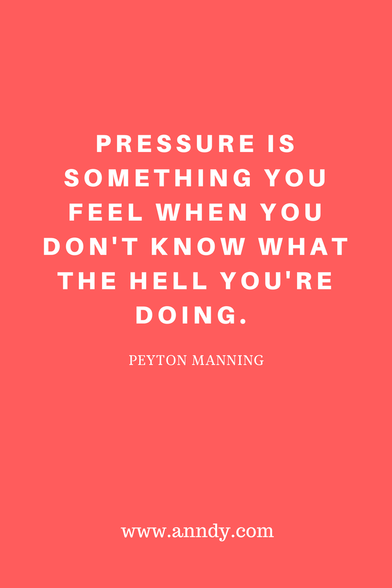 , Pressure is something you feel when you don't know what the hell you're doing. Peyton Manning, Blockchain Adviser for Inter-Governmental Organisation | Book Author | Investor | Board Member