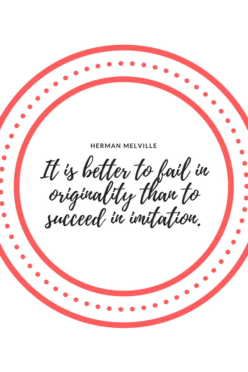 , It is better to fail in originality than to succeed in imitation. Herman Melville, Blockchain Adviser for Inter-Governmental Organisation   Book Author   Investor   Board Member