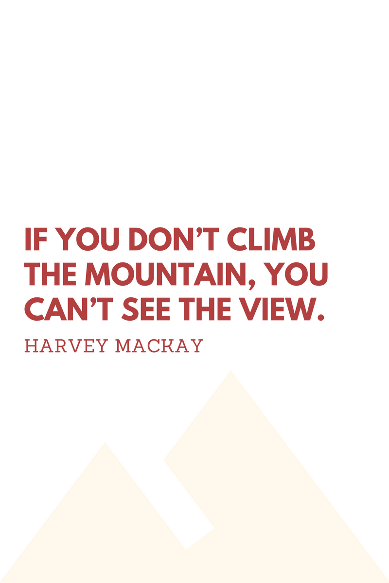 , If you don't climb the mountain, you can't see the view. Harvey Mackay, Blockchain Adviser for Inter-Governmental Organisation | Book Author | Investor | Board Member
