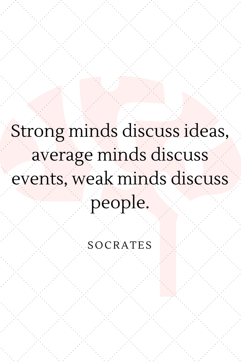 , Strong minds discuss ideas, average minds discuss events, weak minds discuss people. Socrates, Blockchain Adviser for Inter-Governmental Organisation | Book Author | Investor | Board Member